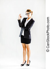 επιχειρηματίαs γυναίκα , αποδεικνύω , ok αναχωρώ