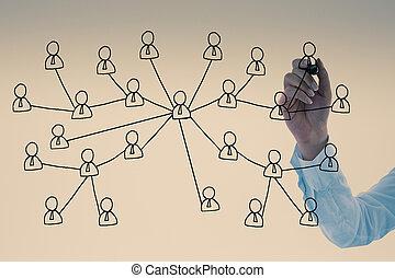 επιχειρηματίαs γυναίκα , κοινωνικός , ζωγραφική , δίκτυο