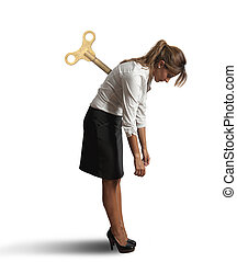 επιχειρηματίαs γυναίκα , κουρασμένος