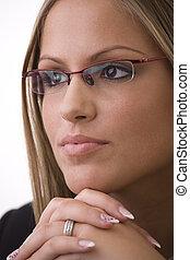 επιχειρηματίαs γυναίκα , σκεπτόμενος