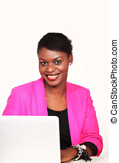 επιχειρηματίαs γυναίκα , χαμογελαστά , αφρικανός