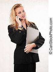 επιχειρηματίαs γυναίκα , laptop , άγω , ελκυστικός , ξανθή , καυκάσιος