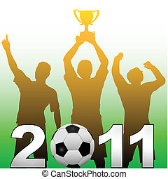 εποχή , μπάλα ποδοσφαίρου ηθοποιός , νίκη , ποδόσφαιρο , 2011, γιορτάζω