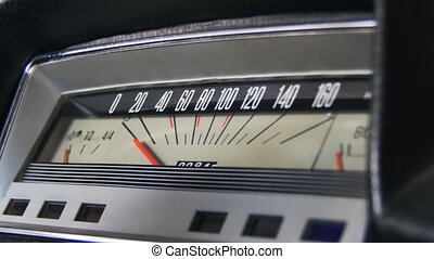 εποχή του τρύγου άμαξα αυτοκίνητο , speedometer.