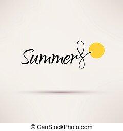 εποχιακός , καλοκαίρι , illustration., απομονωμένος , πώληση , μικροβιοφορέας , εικόνα