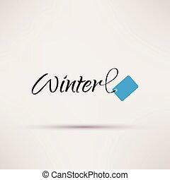 εποχιακός , illustration., απομονωμένος , πώληση , μικροβιοφορέας , εικόνα , χειμώναs