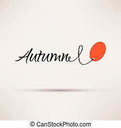 εποχιακός , illustration., απομονωμένος , πώληση , φθινόπωρο , μικροβιοφορέας , εικόνα