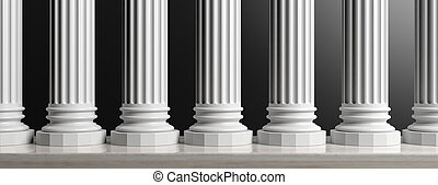 επτά , βόλος , διακοσμώ με κολώνες , επάνω , μαύρο , φόντο....