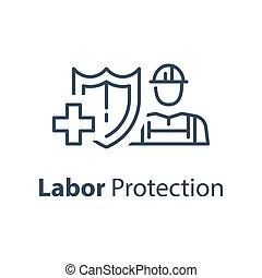 εργάτης , αιγίς , εργασία , προστασία , υγεία , ασφάλεια , ασφάλεια , ιατρικός