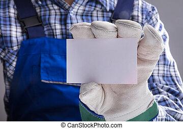 εργάτης , ανάμιξη , γάντια , κενό , εκδήλωση , κάρτα