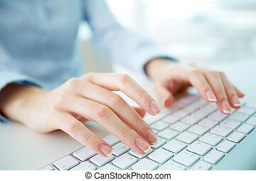 εργάτης , δακτυλογραφία