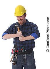 εργάτης , δομή , σφυρί