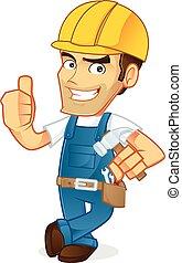 εργάτης κατάλληλος για διάφορες εργασίες