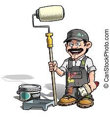 εργάτης κατάλληλος για διάφορες εργασίες , - , ζωγράφος