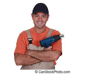 εργάτης , κουραφέξαλα , blower., δομή , αρσενικό