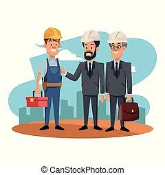 εργάτης , businessmens
