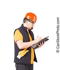 εργάτης , folder., γράψιμο