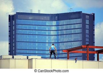 εργάτης , rooftop , repairment
