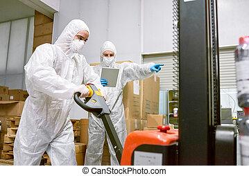 εργαζόμενος , διαδικασία , μέσα , εργοστάσιο , αποθήκη
