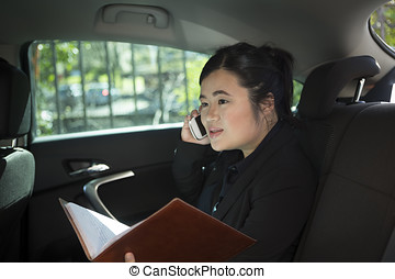 εργαζόμενος , πίσω , γυναίκα , αυτοκίνητο , επιχείρηση , ασιάτης