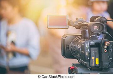 εργαζόμενος , σπίτι , εμπορικός , πεδίο , φωτογραφηκή μηχανή , βίντεο , παραγωγή
