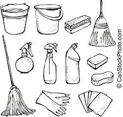 εργαλεία , καθάρισμα