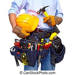 εργαλείο , εργάτης , belt., construction.