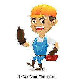 εργαλειοθήκη , άγω , εργάτης κατάλληλος για διάφορες εργασίες