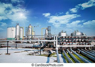 εργοστάσιο , έλαιο , αέριο , επεξεργασία