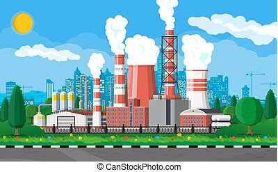 εργοστάσιο , βιομηχανικός , plant., δύναμη