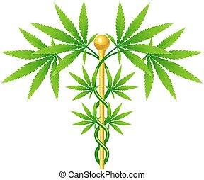 εργοστάσιο , ιατρικός , caduceus , μαριχουάνα