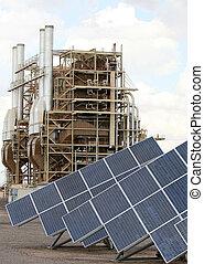 εργοστάσιο , καλός , ρύπανση , δύναμη , θέμα , arizona., ...