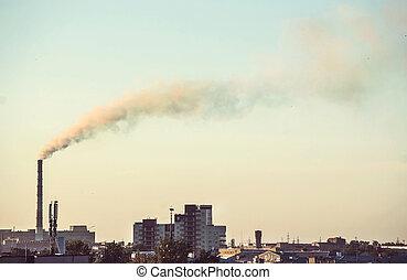 εργοστάσιο , καπνός , pipes.