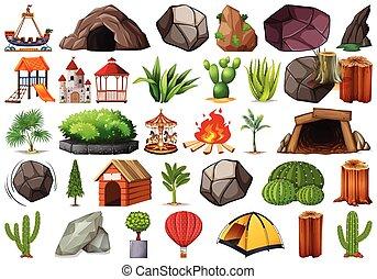 εργοστάσιο , υπαίθριος , φύση , themed , συλλογή , αντικειμενικός σκοπός , στοιχεία