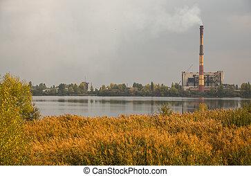 εργοστάσιο , φόντο , φύση
