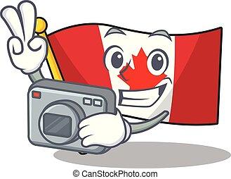 ερμάρι , καναδικός , φωτογράφος , σημαία , απόθεμα ,...