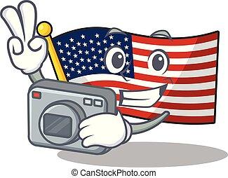 ερμάρι , φωτογράφος , σημαία , απόθεμα , αμερική ,...