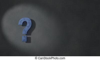 ερώτηση , έξω , πέτρα , από μπετόν εξωτερικός τοίχος οικοδομής , ακουμπώ , μπλε , εικόνα , γκρί , τολμηρός