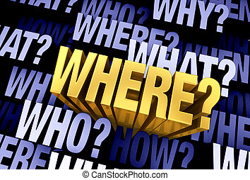 ερώτηση , 'where?', βαρυσήμαντος