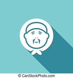 εσκιμώος , μικροβιοφορέας , icon., illustration.