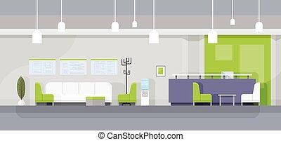 εσωτερικός , αναμονή , μοντέρνος δωμάτιο , γραφείο