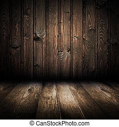 εσωτερικός , από , ξύλο , σπίτι