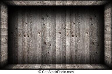 εσωτερικός , γκρί , ξύλο , αδειάζω , backdrop , ολοκλήρωση