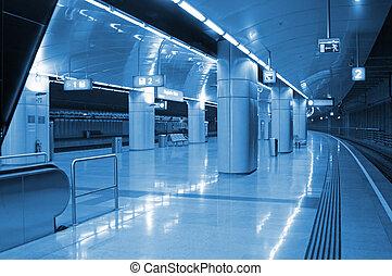εσωτερικός , θέση , μοντέρνος , μετρό