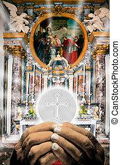 εσωτερικός , οικοδεσπότηs , άγιος , εκκλησία
