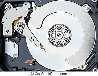 εσωτερικός , σκληρά , πάνω , οδηγώ , ηλεκτρονικός υπολογιστής , κλείνω , δίσκος