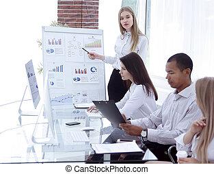 εταίρος , γυναίκα , παρουσίαση , επιχείρηση , κατασκευή