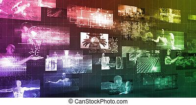 εταιρεία , τεχνολογία , φόντο