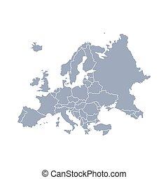ευρώπη , περίγραμμα , χάρτηs , κόσμοs , μικροβιοφορέας