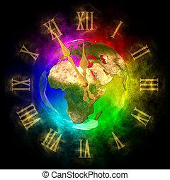 ευρώπη , ρολόι , κοσμικός , - , μέλλον , αισιόδοξος , γη